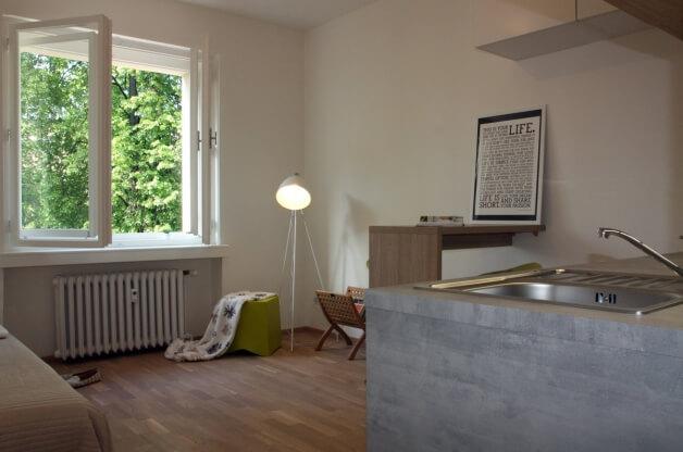 Zrekonstruovaný byt 1+kk