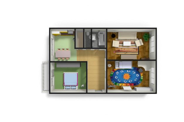 Zděný byt 3+1 v centru města